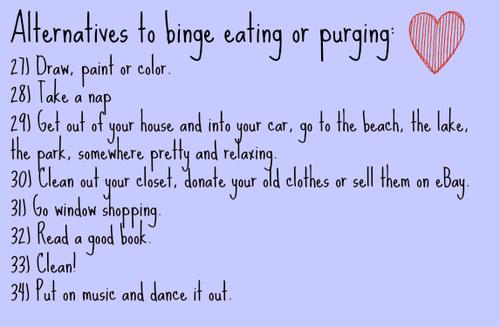 binge eating alternatives