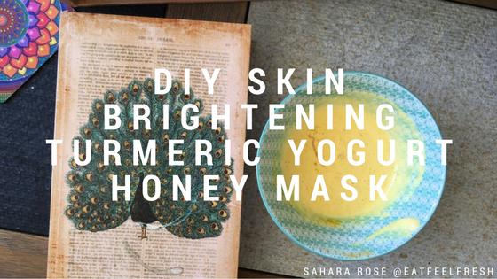 diy skin brightening turmeric yogurt honey mask