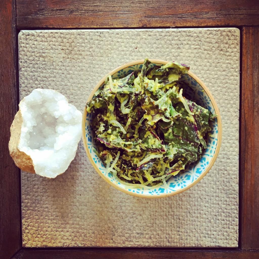 detoxifying ayurvedic kale oil-free salad