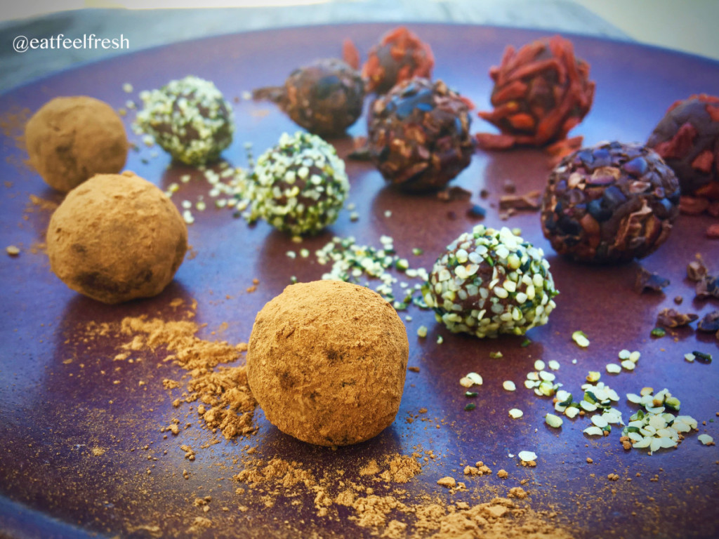 superfood raw vegan sugar-free chocolate truffles eat feel fresh