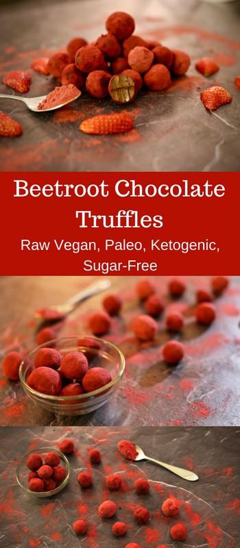 raw beetroot chocolate truffles