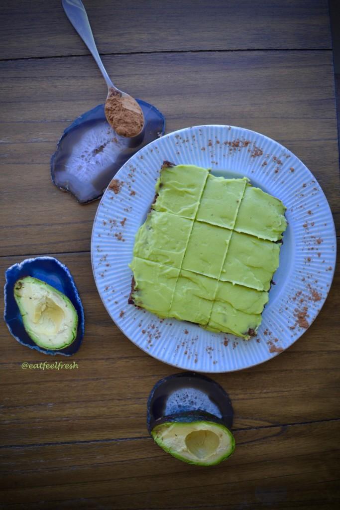 avocado brownies vegan paleo
