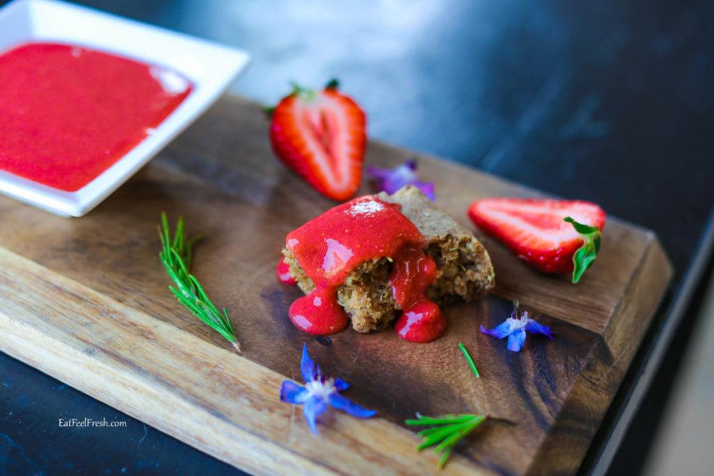 Sahara's Super Fresh Strawberry Jam (Raw Vegan, Paleo, Keto, Sugar-Free)